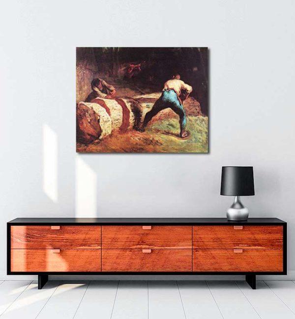 Jean François Millet - Bıçkıcılar kanvas tablo