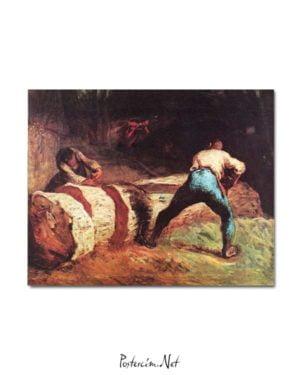 Jean François Millet - Bıçkıcılar posteri