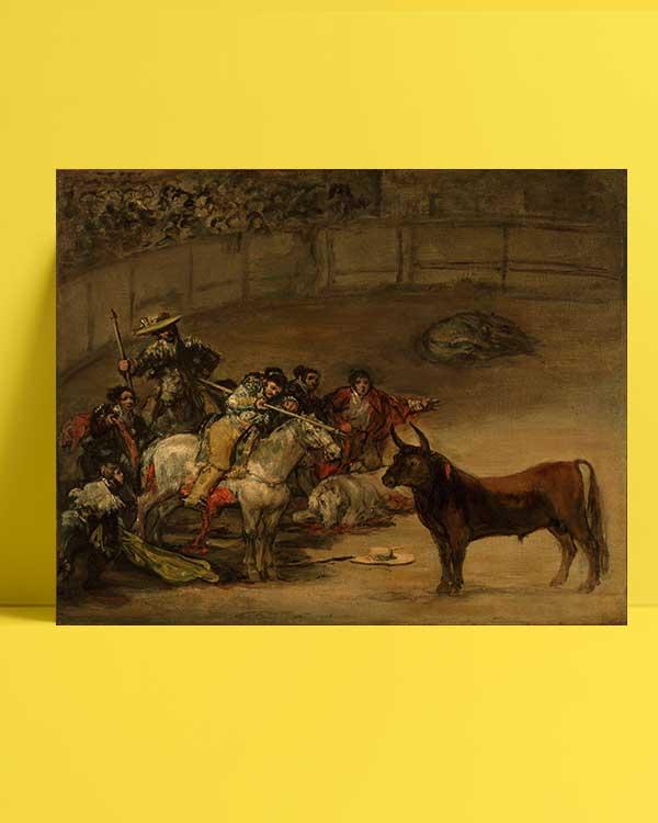 Francisco Goya - Boğa Güreşi afişi