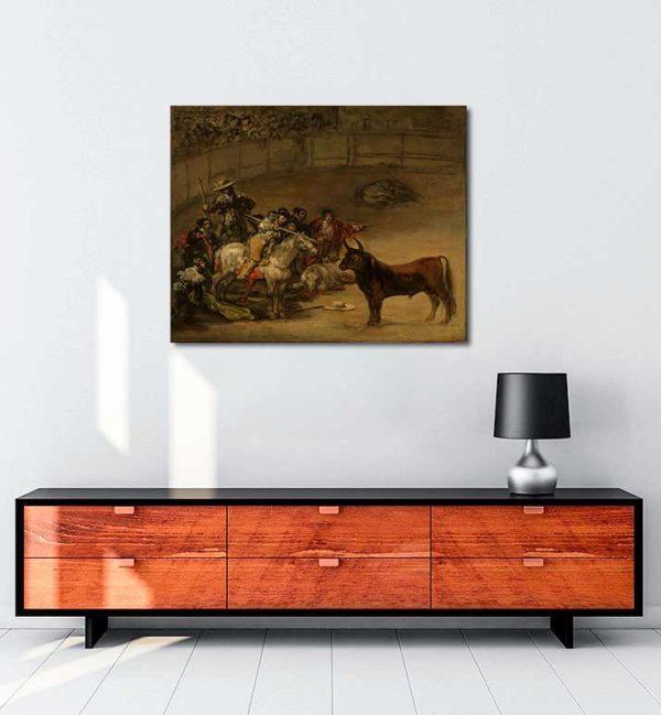 Francisco Goya - Boğa Güreşi kanvas tablo