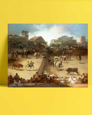 Francisco Goya -Bölünmüş Arenada Boğa Güreşi afişi