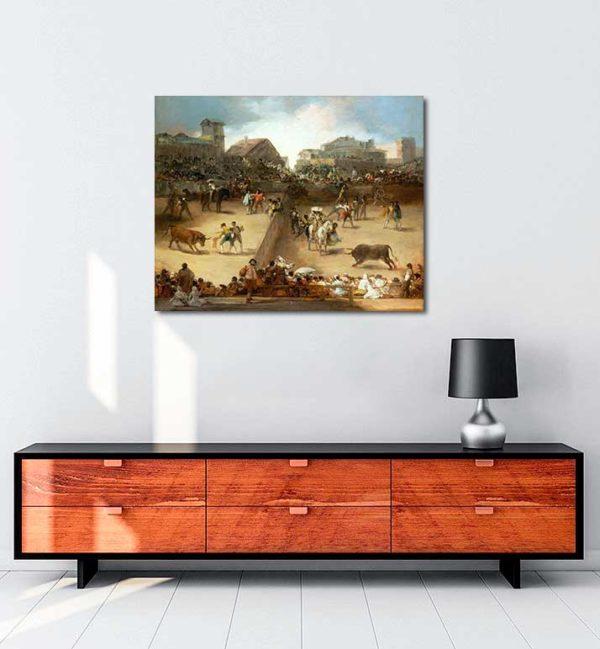 Francisco Goya - Bölünmüş Arenada Boğa Güreşi kanvas tablo