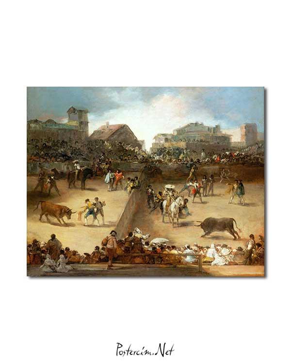 Francisco Goya - Bölünmüş Arenada Boğa Güreşi posteri