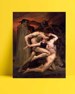 William-Adolphe Bouguereau - Dante ve Virgil Cehennemde afişi