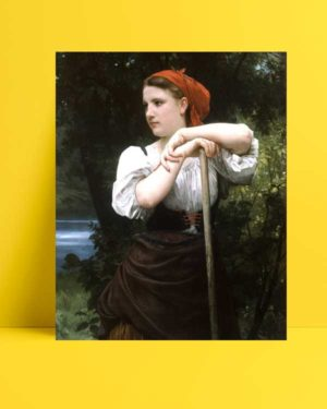William-Adolphe Bouguereau - Faneuse afişi