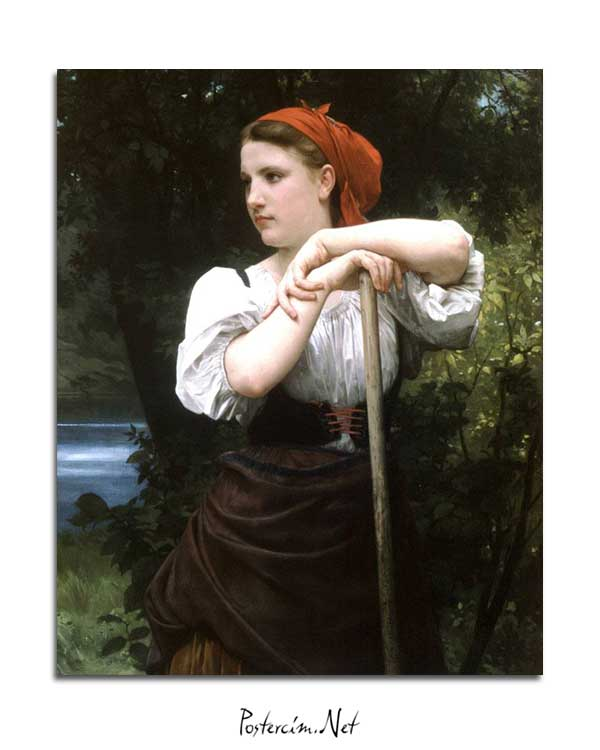 William-Adolphe Bouguereau - Faneuse posteri