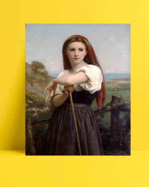William-Adolphe Bouguereau - Genç Çoban Kız afişi