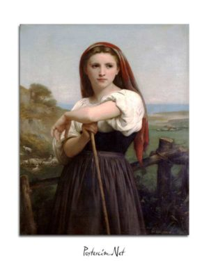 William-Adolphe Bouguereau - Genç Çoban Kız posteri