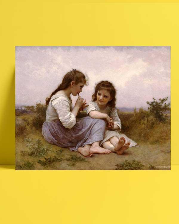 William-Adolphe Bouguereau - Idyll'in Çocukluğu afişi