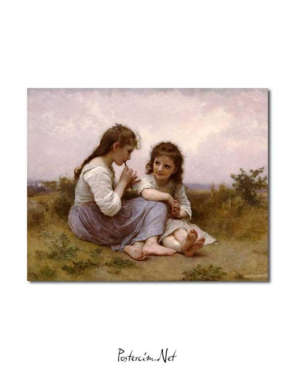 William-Adolphe Bouguereau - Idyll'in Çocukluğu posteri