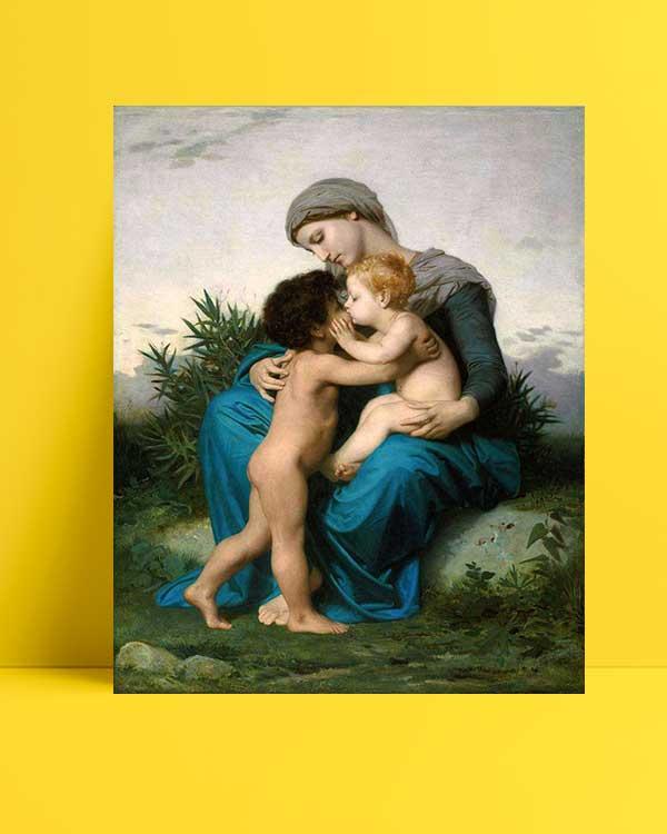William-Adolphe Bouguereau - Kardeşçe Sevgi afişi