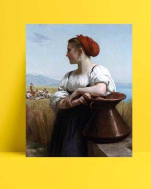 William-Adolphe Bouguereau - Moissonneuse afişi
