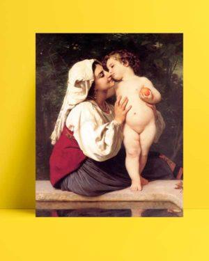 William-Adolphe Bouguereau - Öpücük afişi