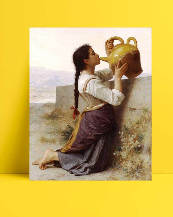 William-Adolphe Bouguereau - Susuzluk afişi