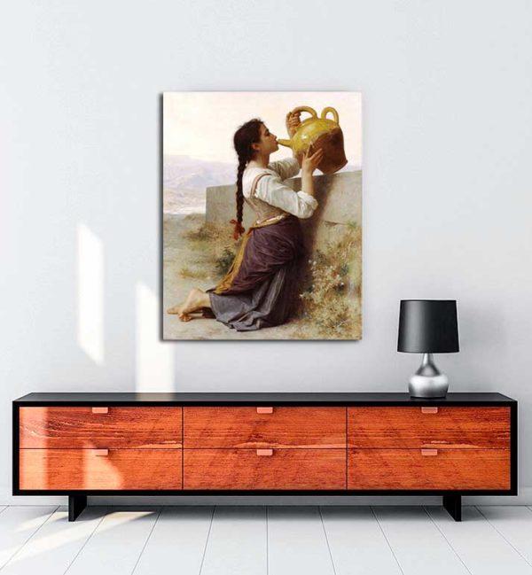 William-Adolphe Bouguereau - Susuzluk kanvas tablo