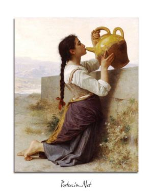 William-Adolphe Bouguereau - Susuzluk posteri
