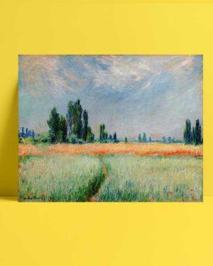 Claude Monet - Buğday Tarlası afişi