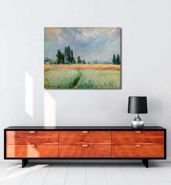 Claude Monet - Buğday Tarlası kanvas tablo