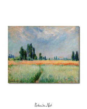 Claude Monet - Buğday Tarlası posteri