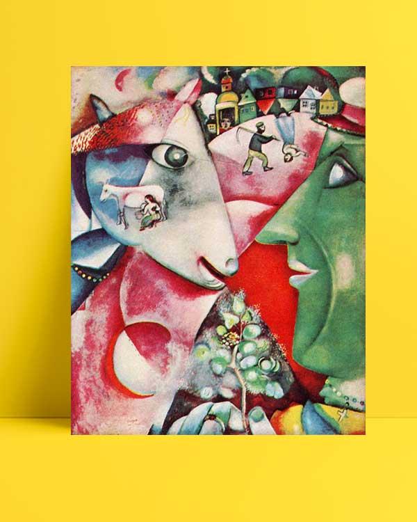 Marc Chagall - Ben ve Köyüm afişi