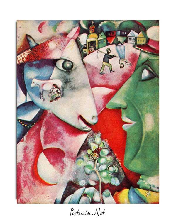 Marc Chagall - Ben ve Köyüm posteri