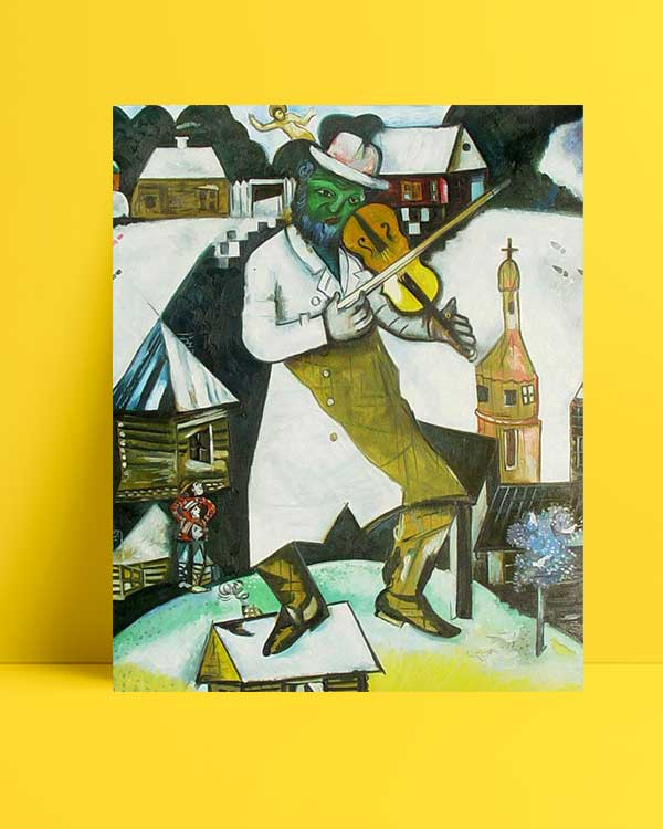 Marc Chagall - Kemancı afişi