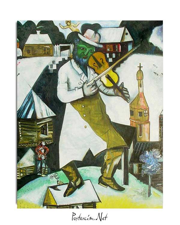 Marc Chagall - Kemancı posteri