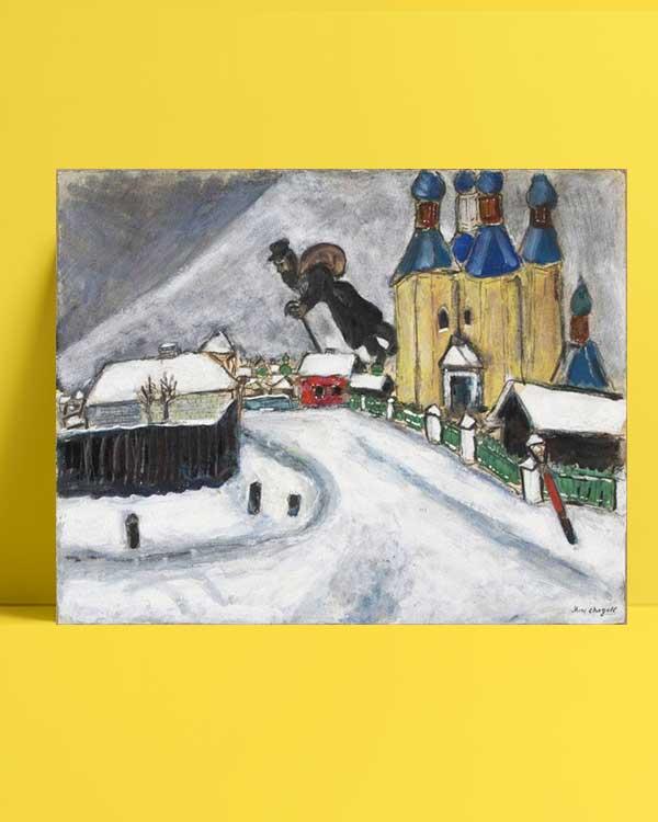 Marc Chagall - Vitebsk Üzerinde afişi