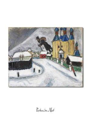 Marc Chagall - Vitebsk Üzerinde posteri