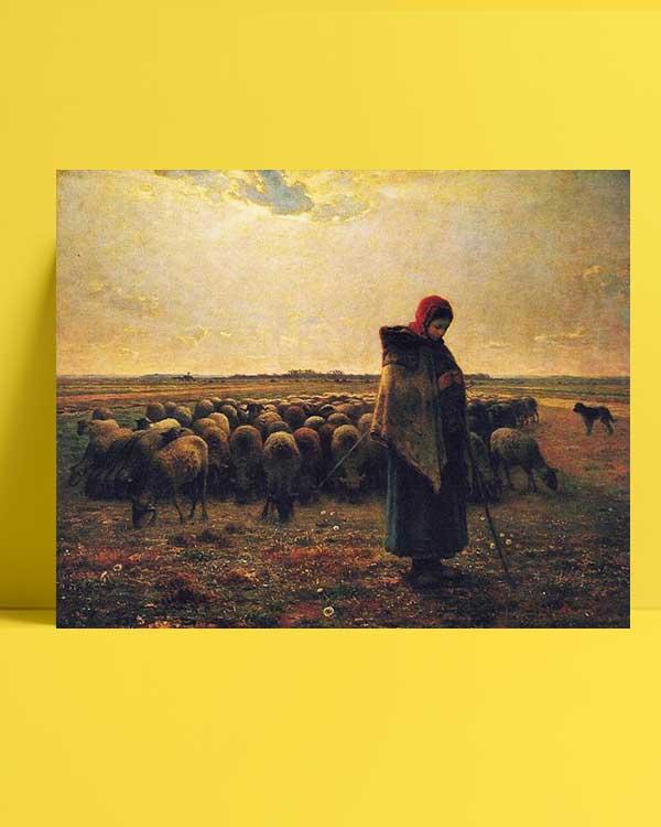Jean François Millet - Çoban afişi