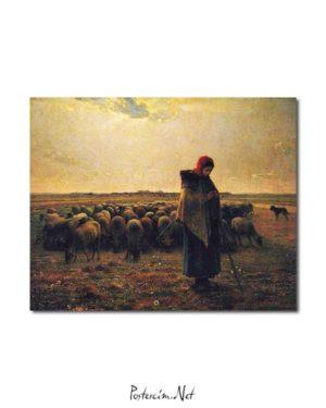 Jean François Millet - Çoban posteri