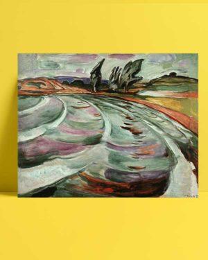 Edvard Munch - Dalgalar afişi
