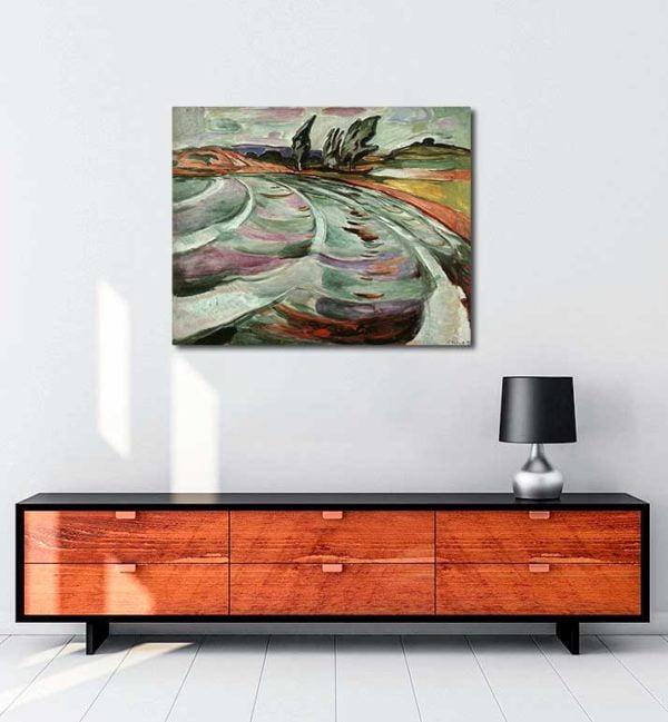 Edvard Munch - Dalgalar kanvas tablo