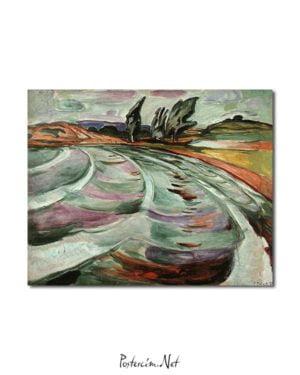 Edvard Munch - Dalgalar posteri