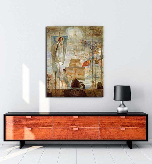 Salvador Dali - Amerika'nın Keşfi kanvas tablo