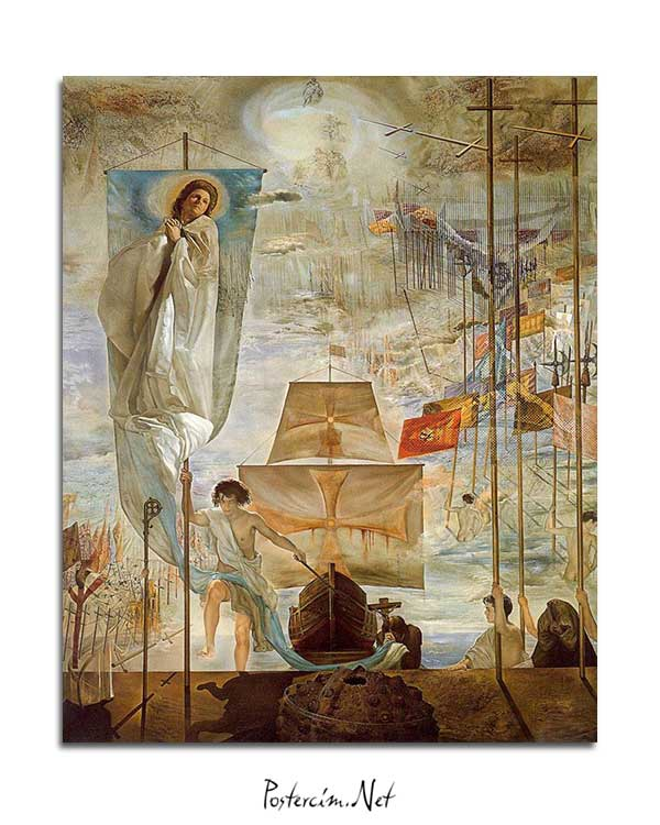 Salvador Dali - Amerika'nın Keşfi posteri
