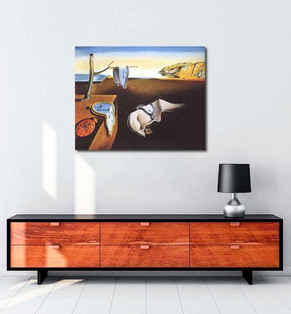 Salvador Dali - Belleğin Azmi kanvas tablo