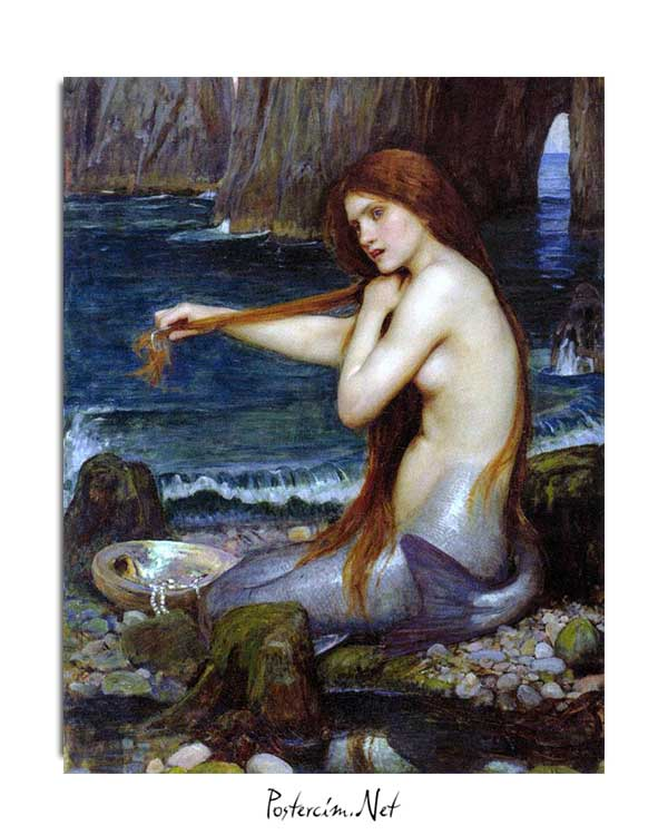 John William Waterhouse - Deniz Kızı posteri
