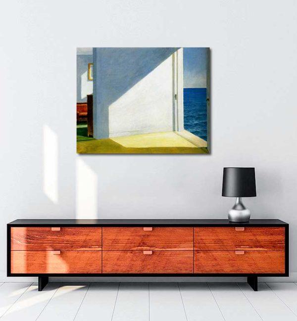 Edward Hopper - Denize Bakan Odalar kanvas tablo