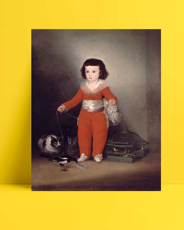 Francisco Goya - Don Manuel Osorio Manrique de Zuniga afişi