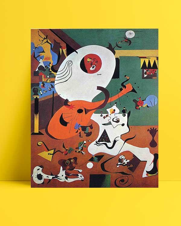 Joan Miró - Hollanda İç Mekan afişi