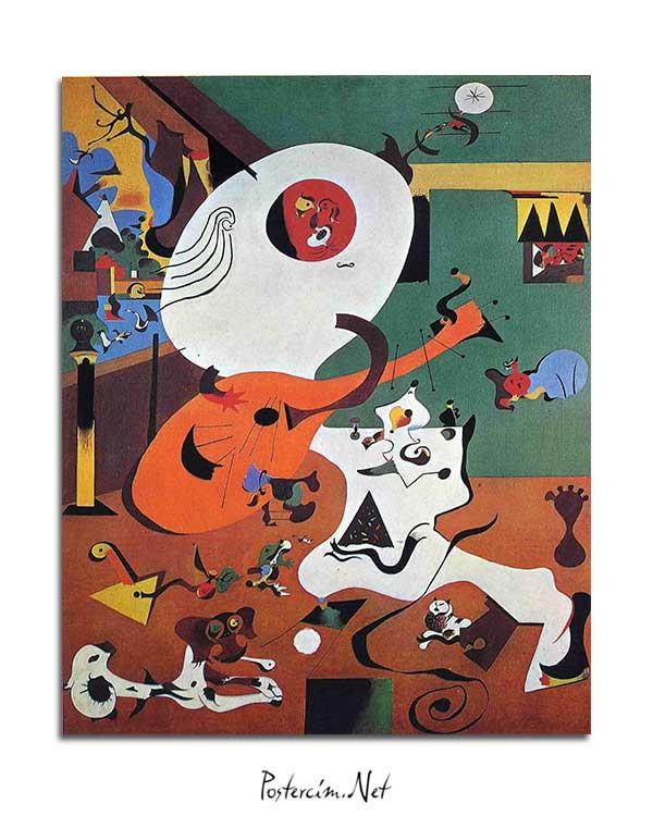 Joan Miró - Hollanda İç Mekan posteri