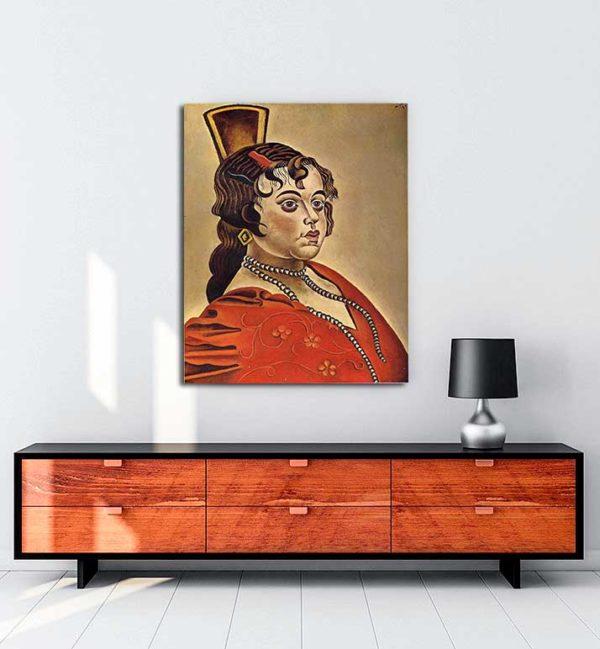 Joan Miró - İspanyol Dansçının Portresi kanvas tablo