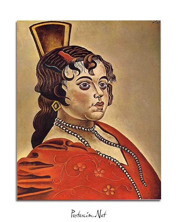 Joan Miró - İspanyol Dansçının Portresi posteri