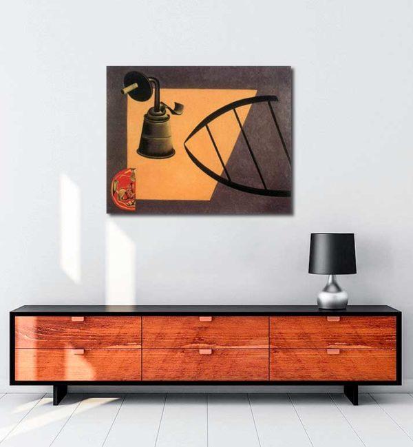 Joan Miró - Karbür Lambası kanvas tablo