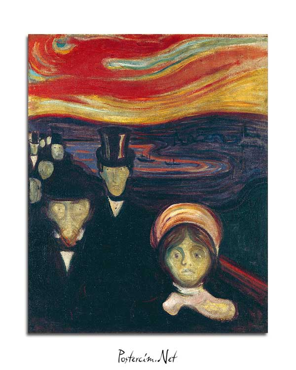 Edvard Munch - Kaygı posteri