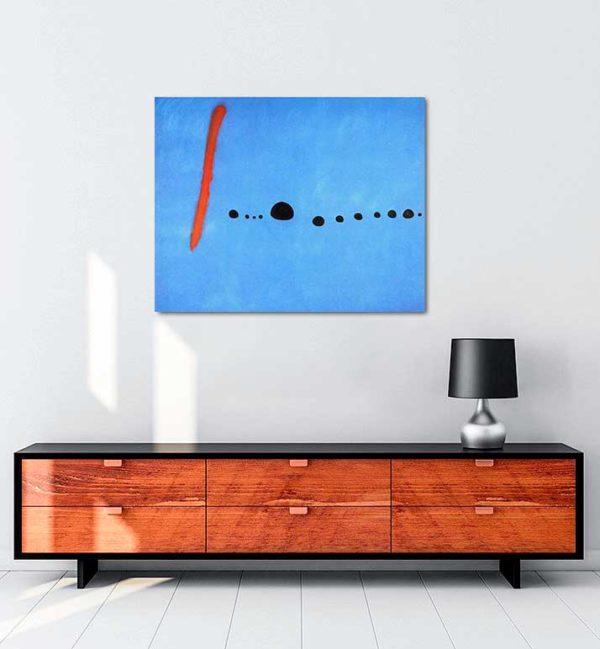 Joan Miró - Mavi II kanvas tablo