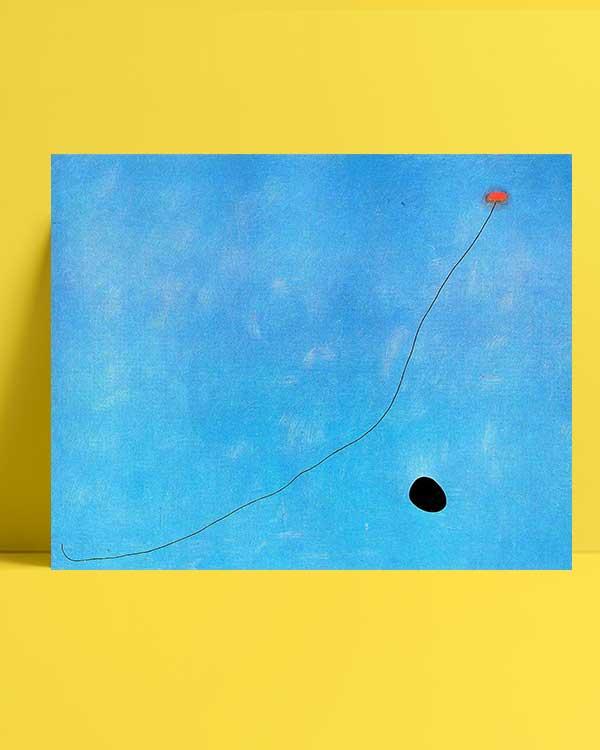 Joan Miró - Mavi III afişi