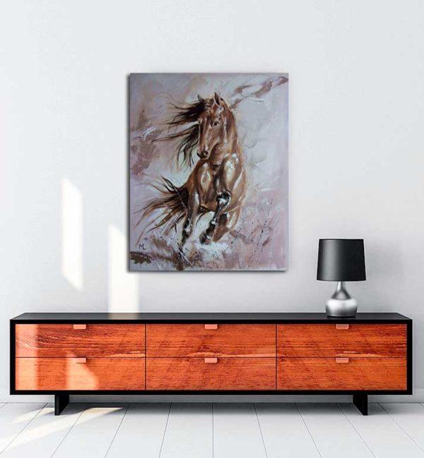 Monika Luniak - Atların Dansı kanvas tablo