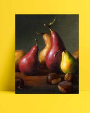Natürmort - Armutlar-Kestaneler afişi